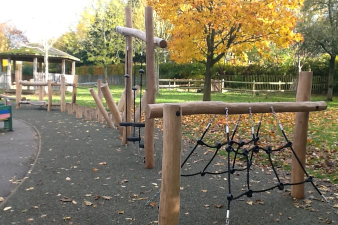 "<div class='slide-overlay orange-slide'><h2>""The new KS1 playground equipment is fantastic!""</h2></div>"