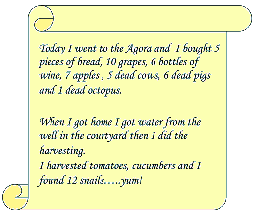 diary writing template ks1 - ancient greek scroll images frompo
